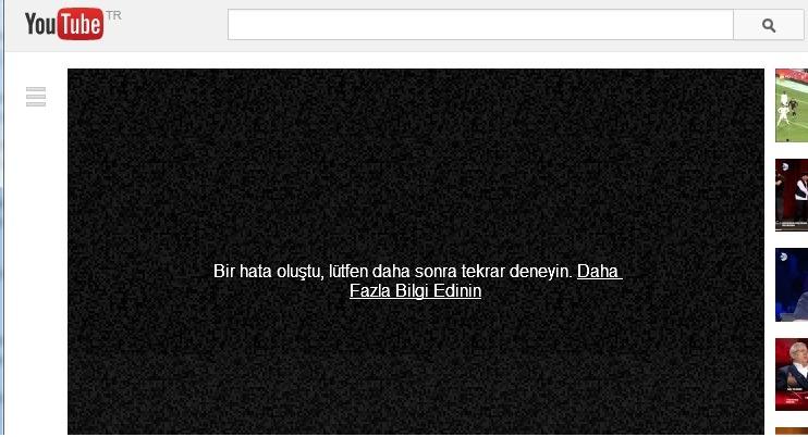 youtube bir hata oluştu çözümü