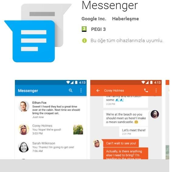 Android servis mesajı gönderememe