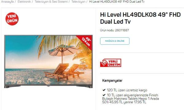 a101 hi level tv